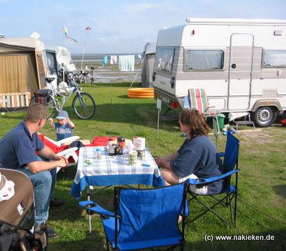 Camping in Bensersiel an der Nordsee