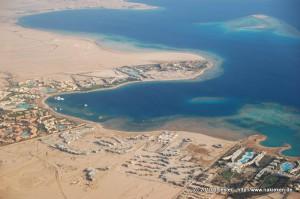 Landeanflug auf den Flughafen Hurghada