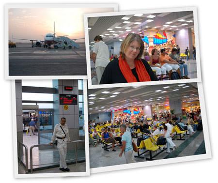 Flughafen Hurghada - auf dem Weg heim
