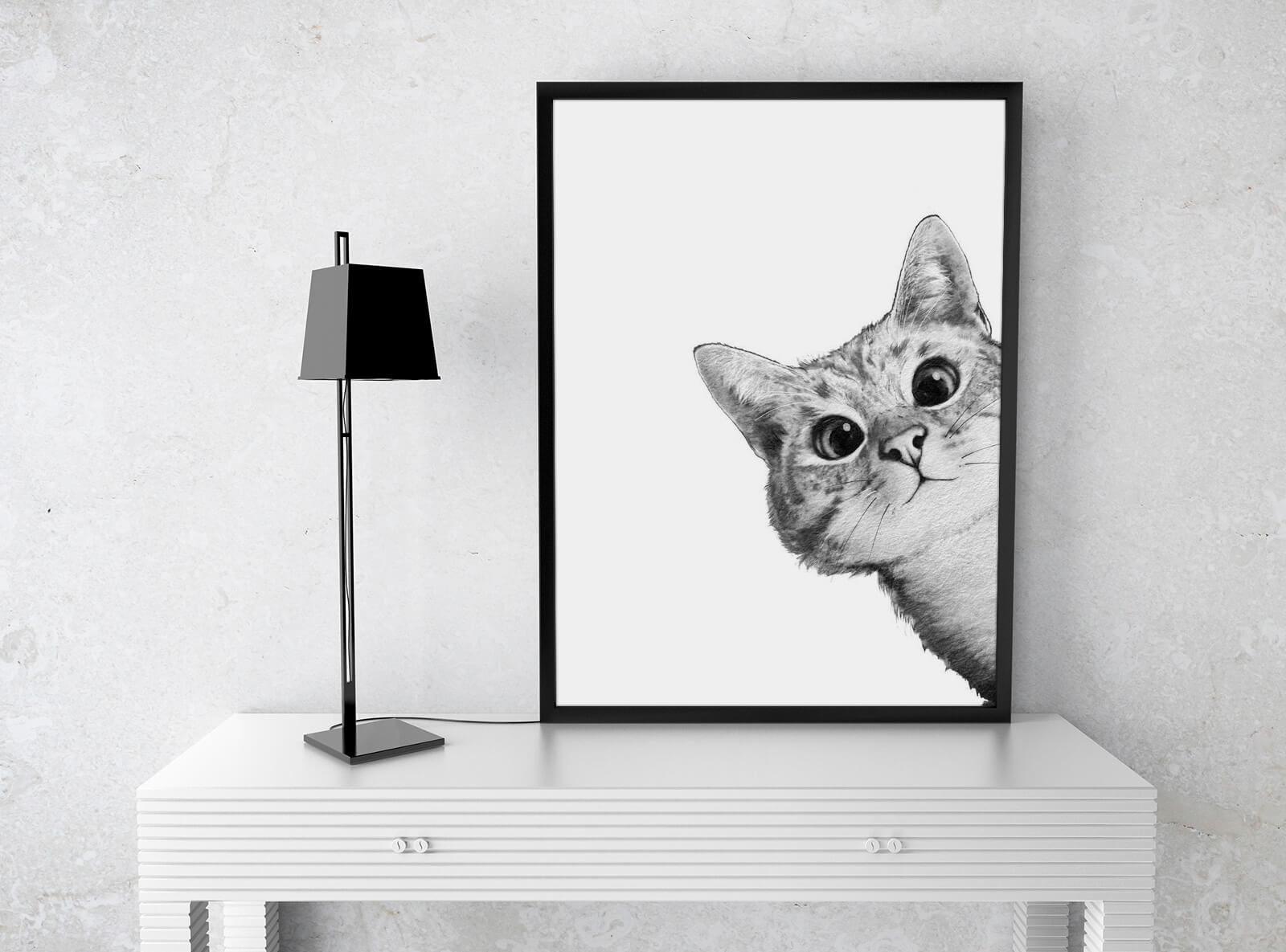 Kunst für Kinder: Sneaky Cat