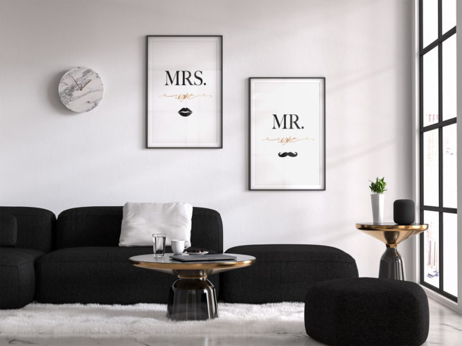 Mr Right und Miss Right Doppel Deko Poster