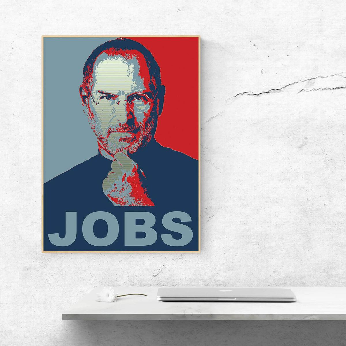 Das Bild des verstorbenen Visionärs Steve Jobs