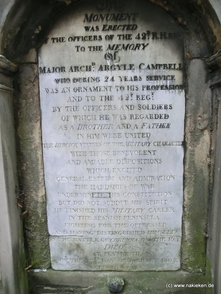 Grabsteingeschichten auf dem alten Friedhof in Edinburgh