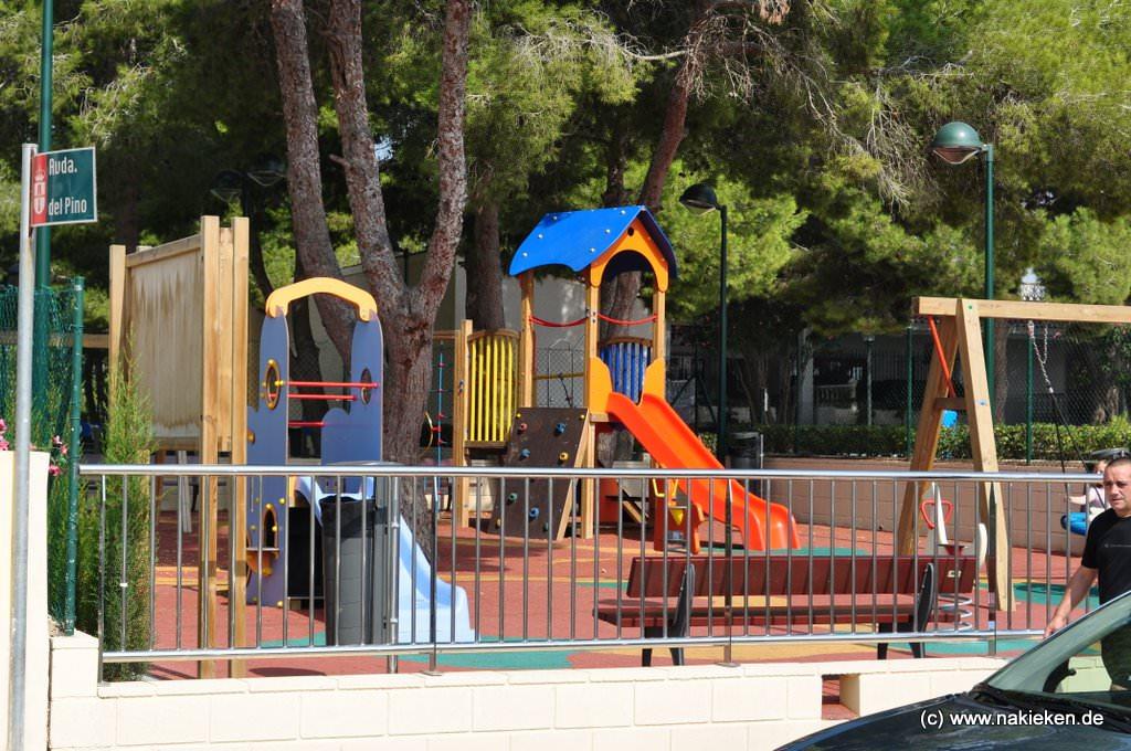 Spielplatz im Ort