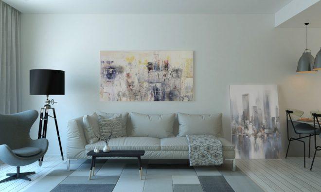Möbel und Fußboden