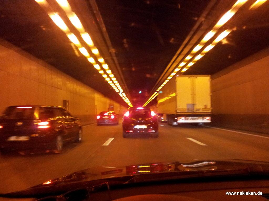 Autobahn Belgien Tunnel