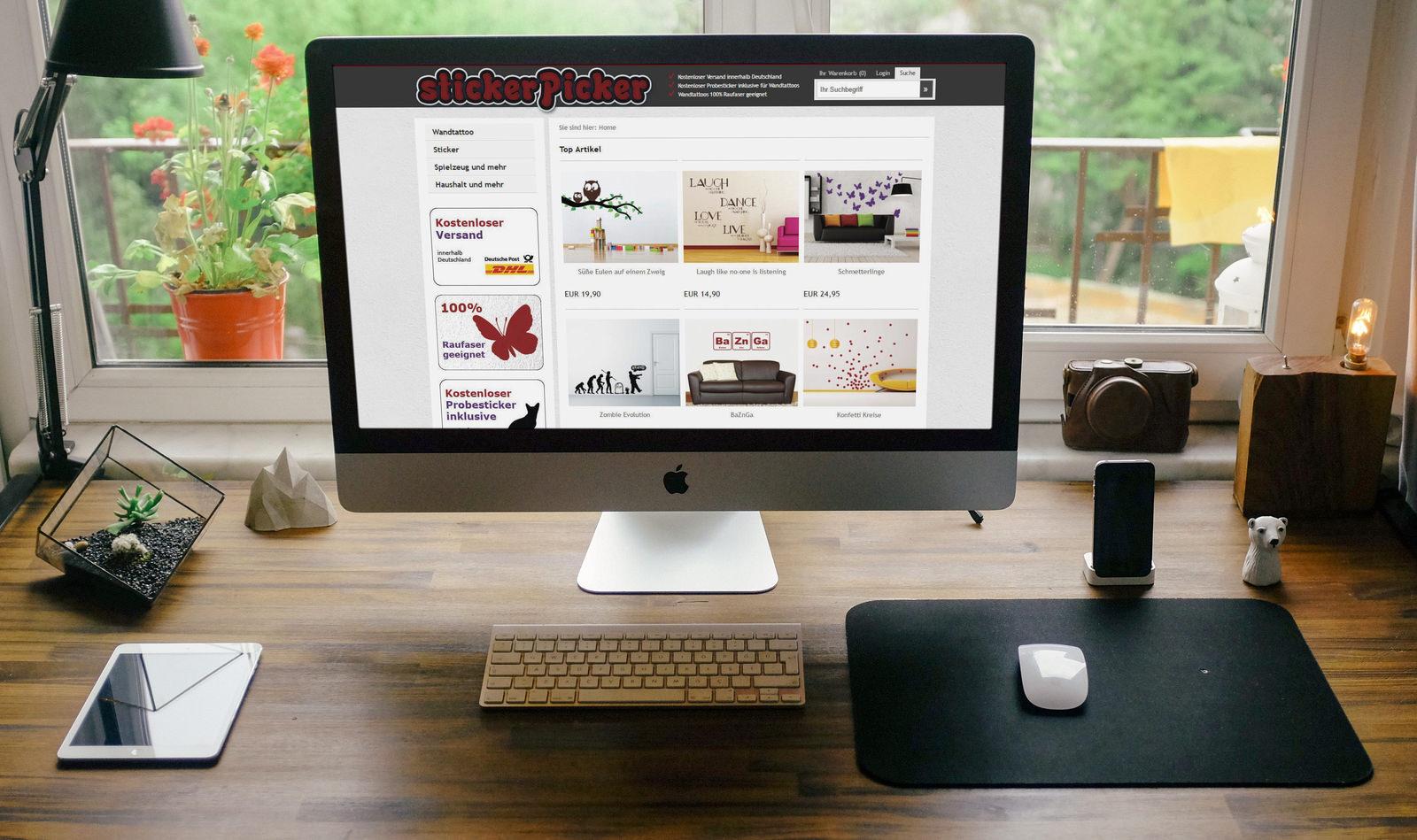 """Der """"Stickerpicker""""-Onlineshop"""