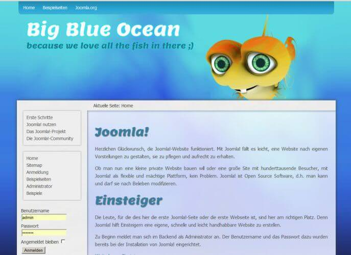 Big blue Ocean - Webseitenvorlage