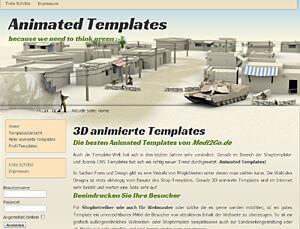 Vorschau der installierten Webseite: Clanwar (day) in Joomla