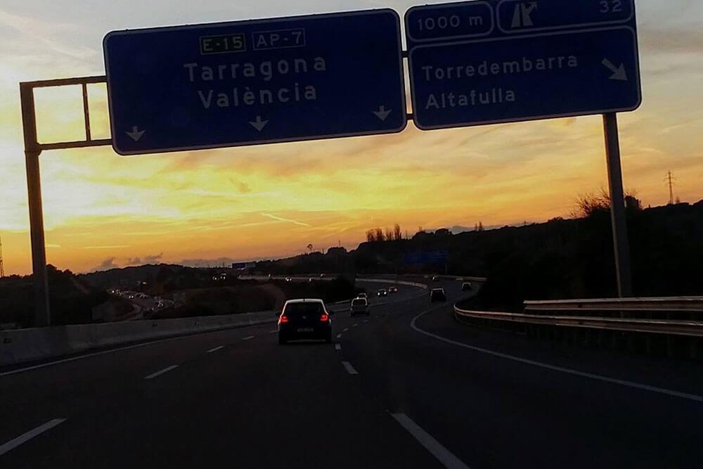 Autobahn E-15 AP-7 nach Spanien