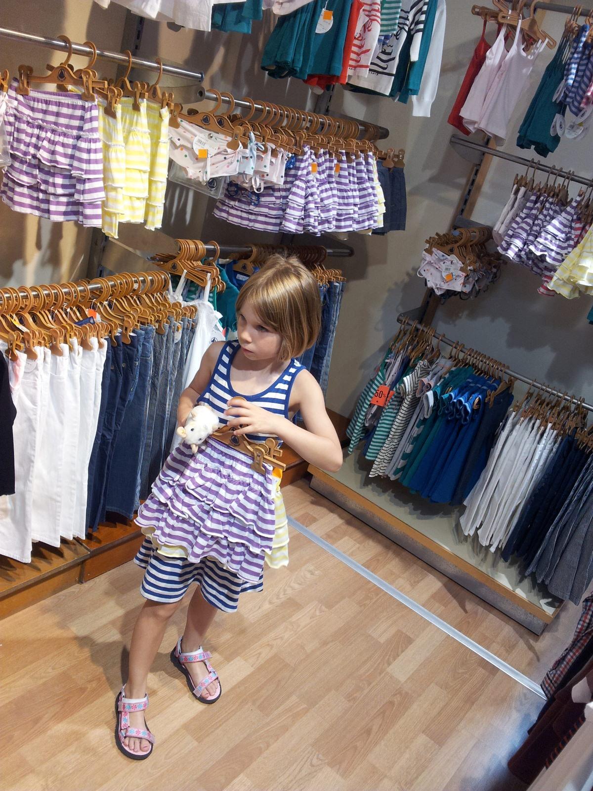 Einkaufen im Outlet