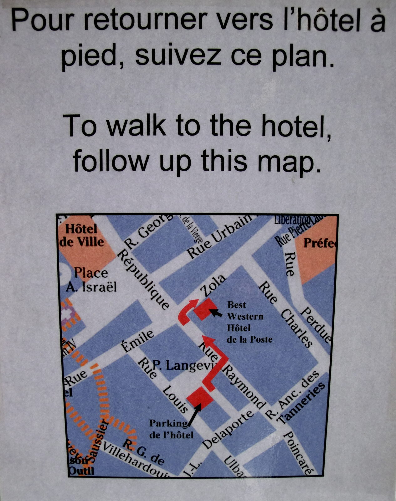 Best Western Troyes Parkhaus Anfahrsweg