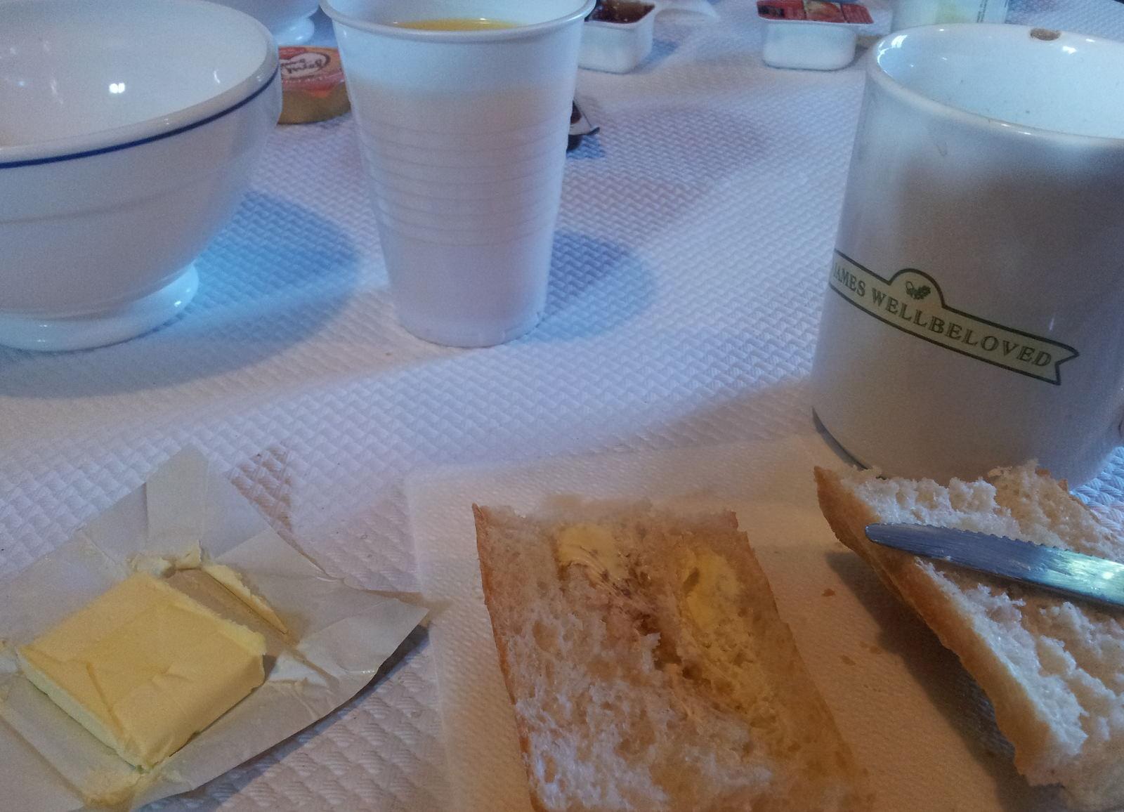 Frühstück in der Jugenherberge