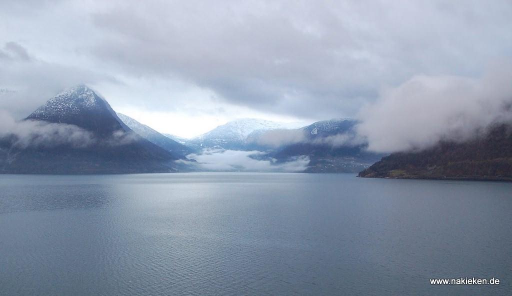 Eidfjord Wasser und Berge