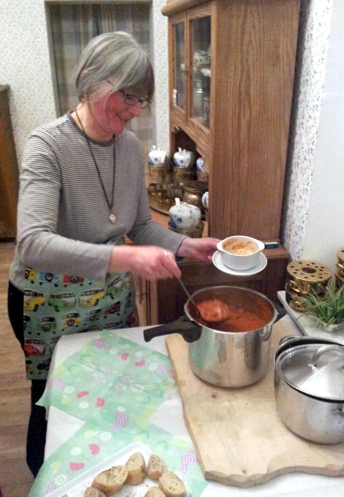 Suppe in der Pause