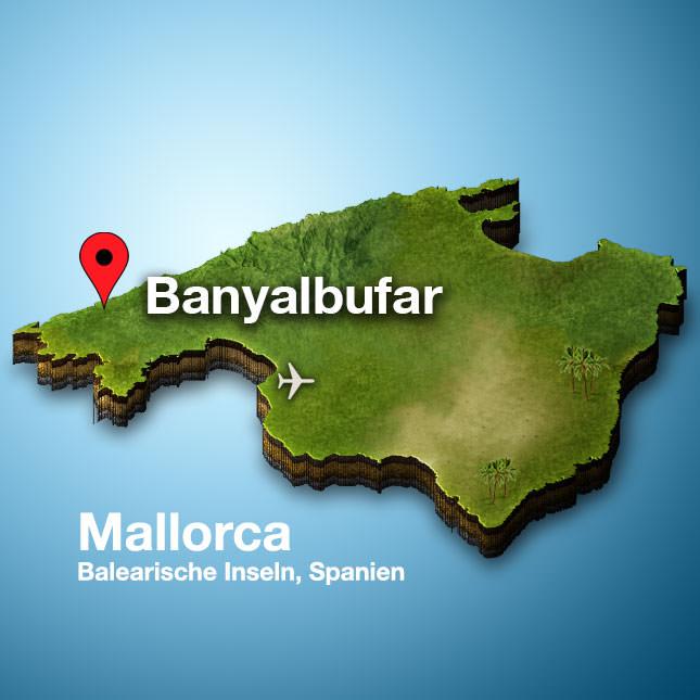 Banyalbufar Mallorca Karte