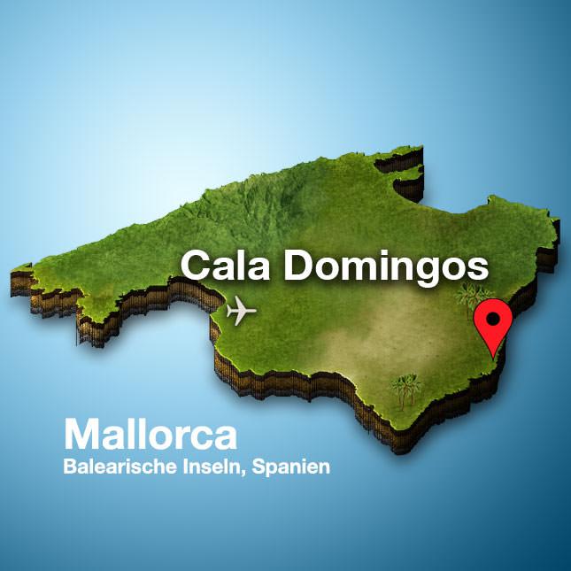 Cala Domingos Mallorca Karte