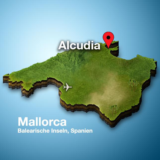 Alcudia Mallorca Karte