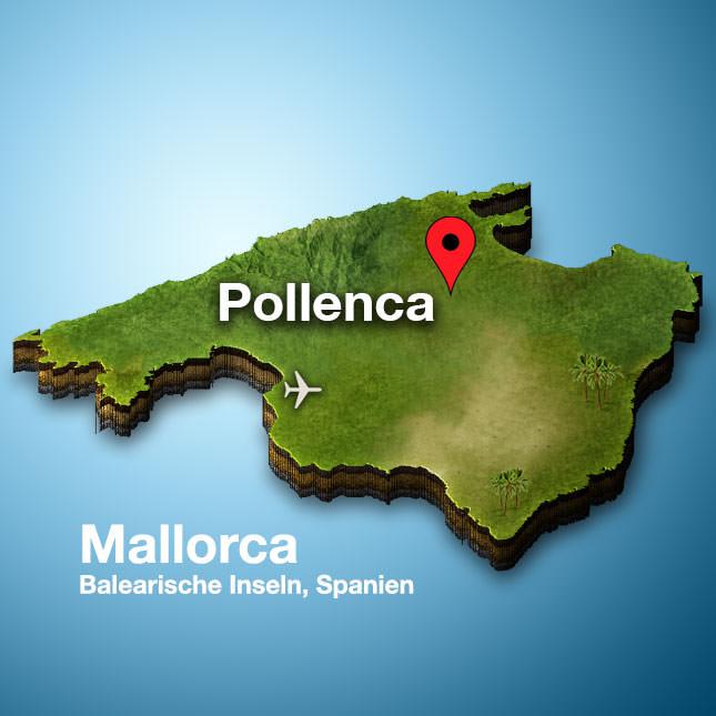 Pollenca Mallorca Karte