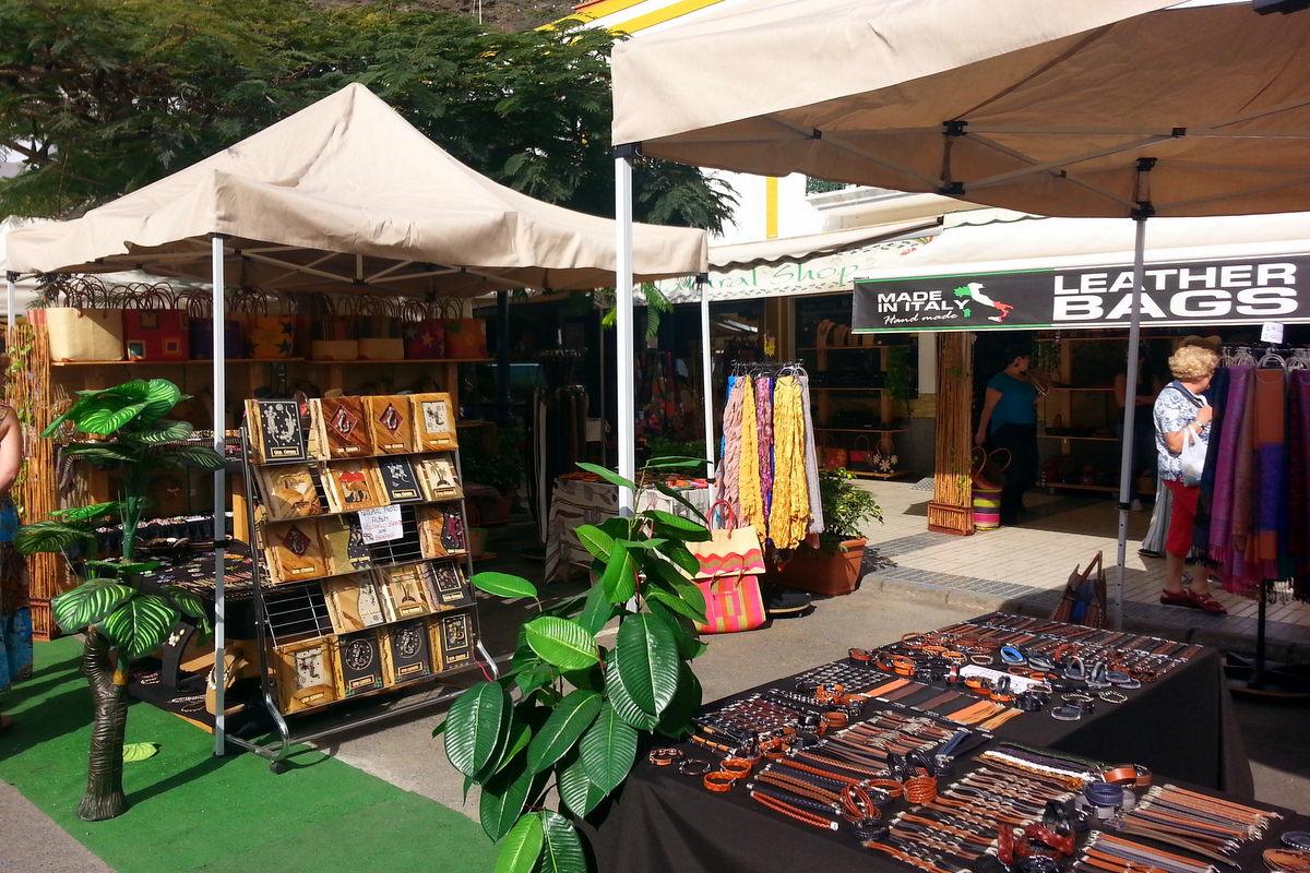 Marktstand in Puerto de Mogan