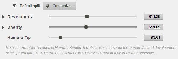 Screen: Humble Bundle Spendenanzeige