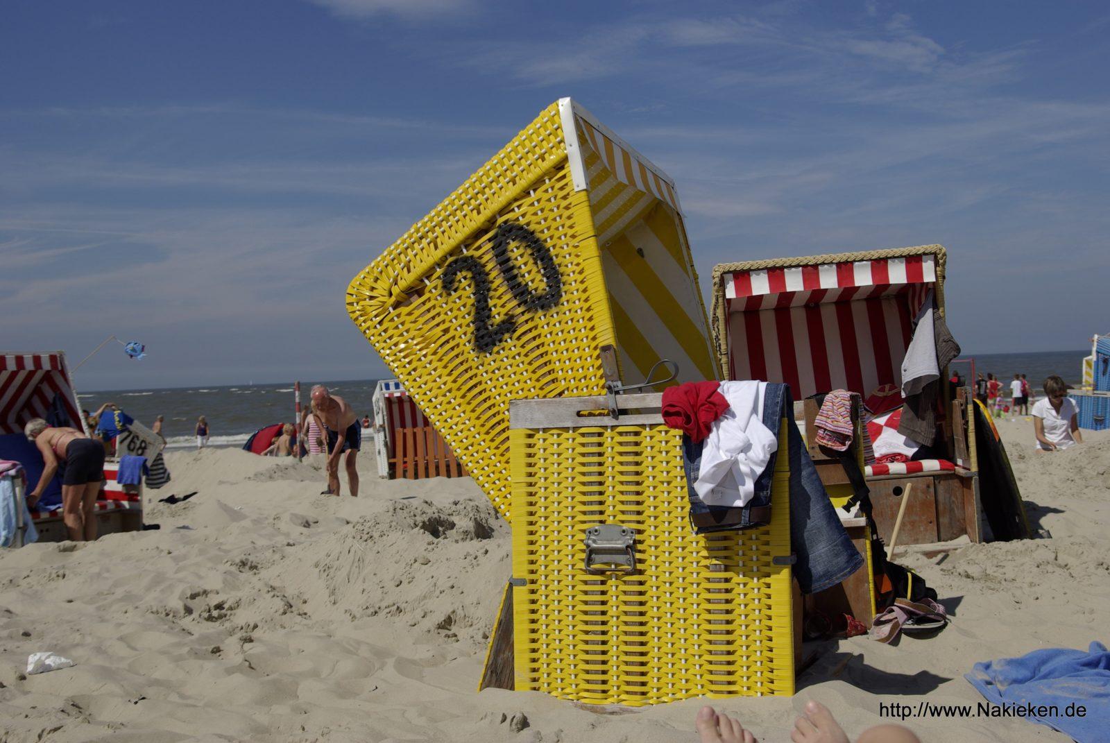Blick aus dem Strandkorb