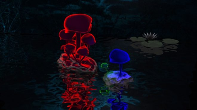 Magic Mushrooms in 3Ds Max