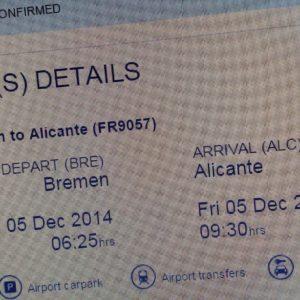 Flight status confirmed