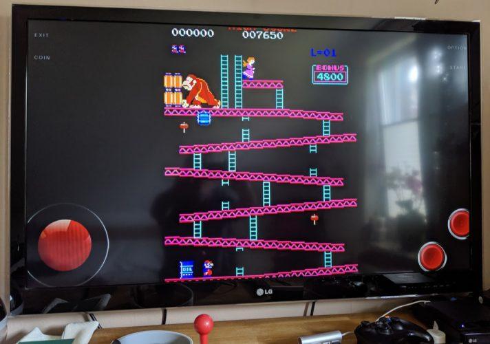 Donkey Kong auf dem TV
