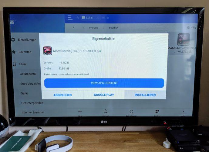 installation von Mame auf Amazon fire TV