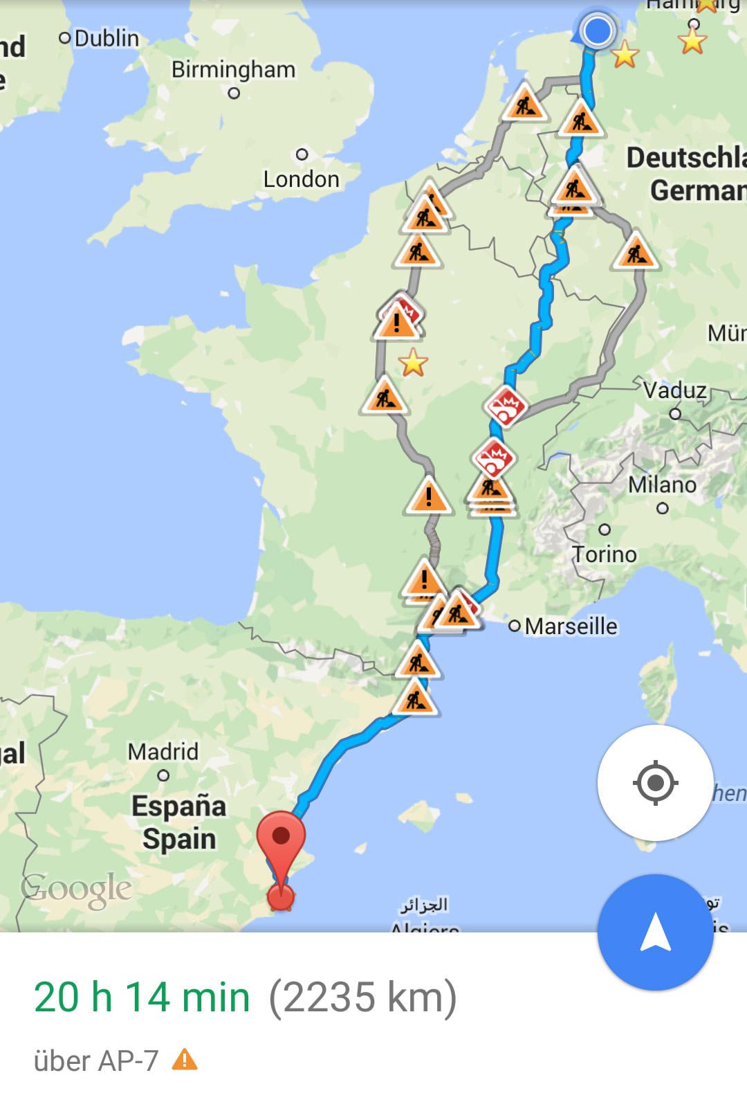 Von Deutschland nach Spanien