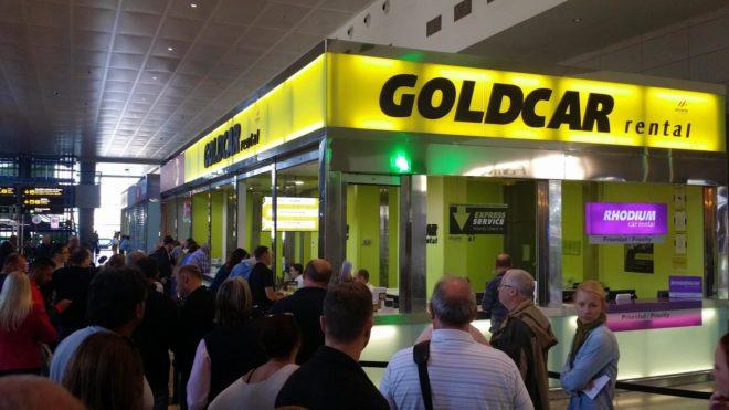 Warten bei Goldcar
