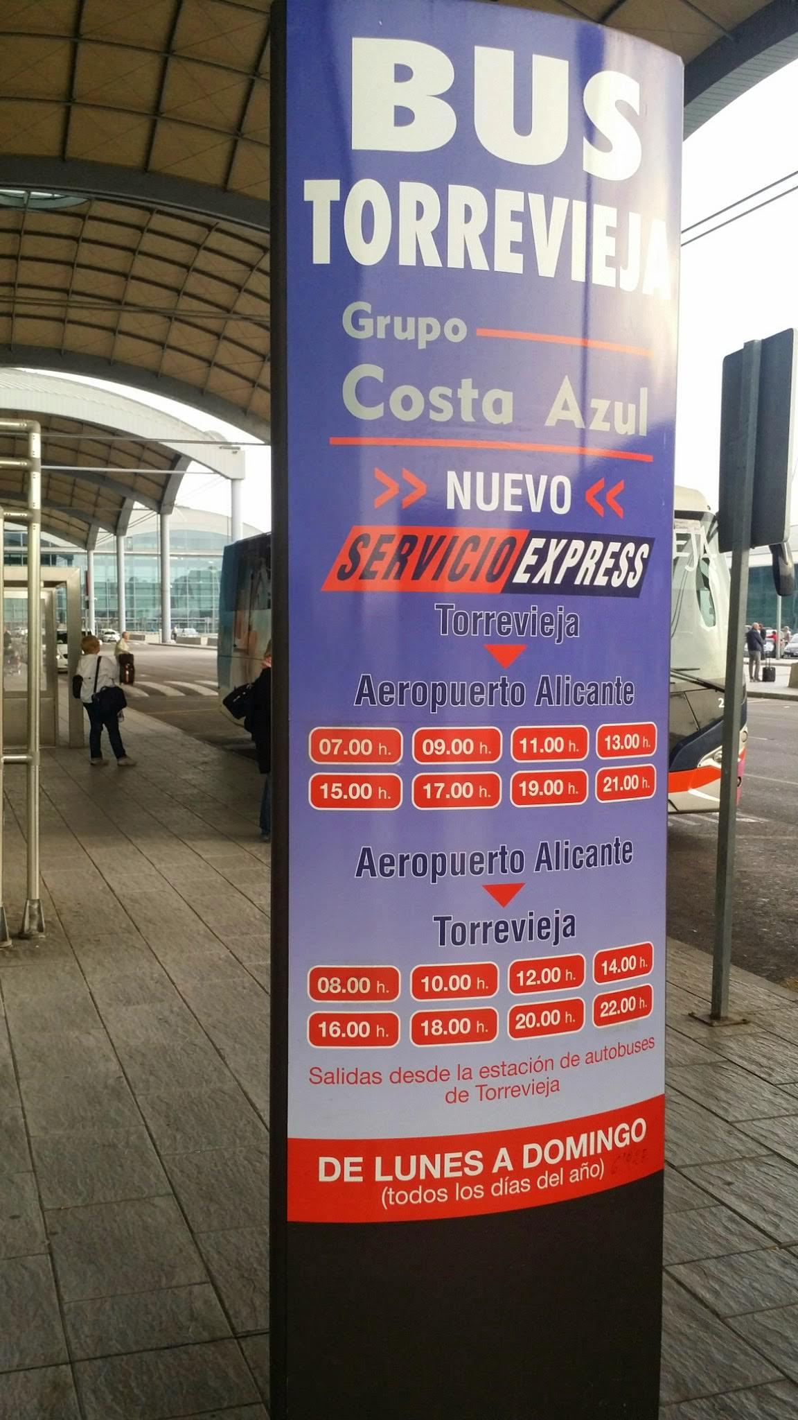 Bustransfer von Alicante Fughafen nach Torrevieja