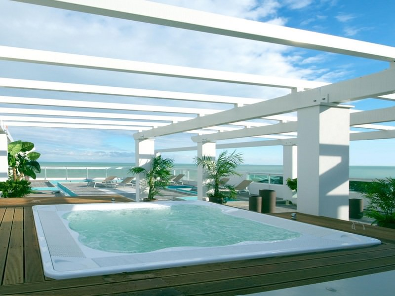 Solarium auf dem Dach