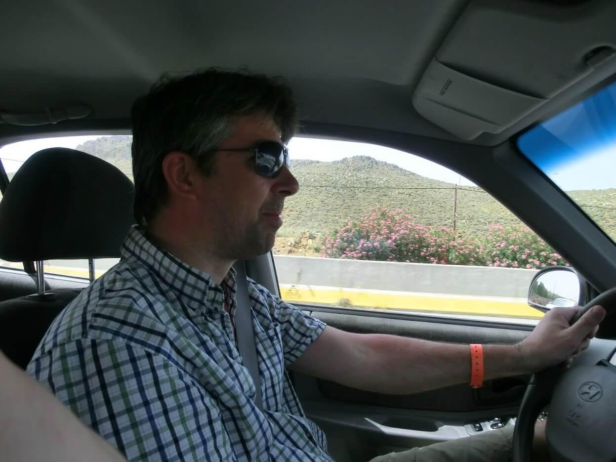 mit dem Leihwagen nach Matala