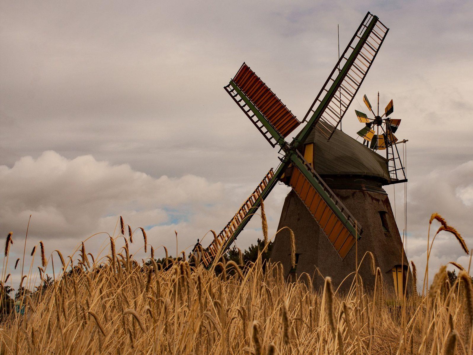 Eine örtliche Windmühle