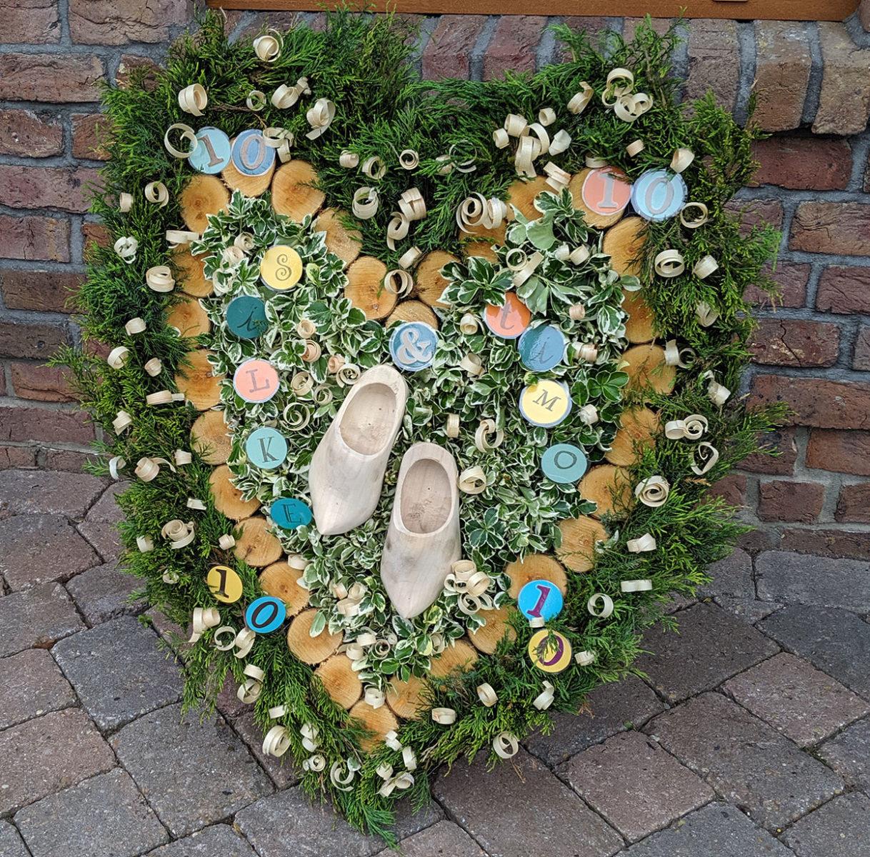 Bogen-Herz zur Hölzernen Hochzeit