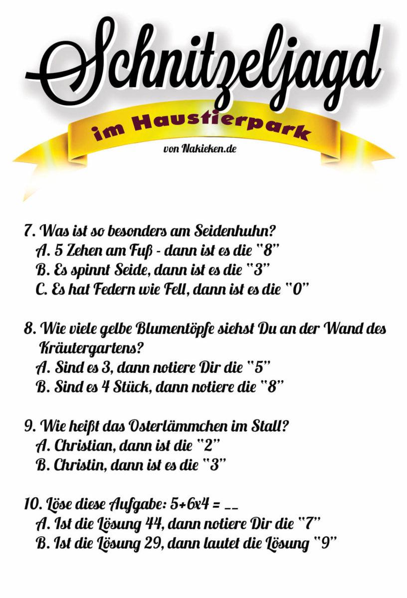 Schnitzeljagd Rätsel Seite 3