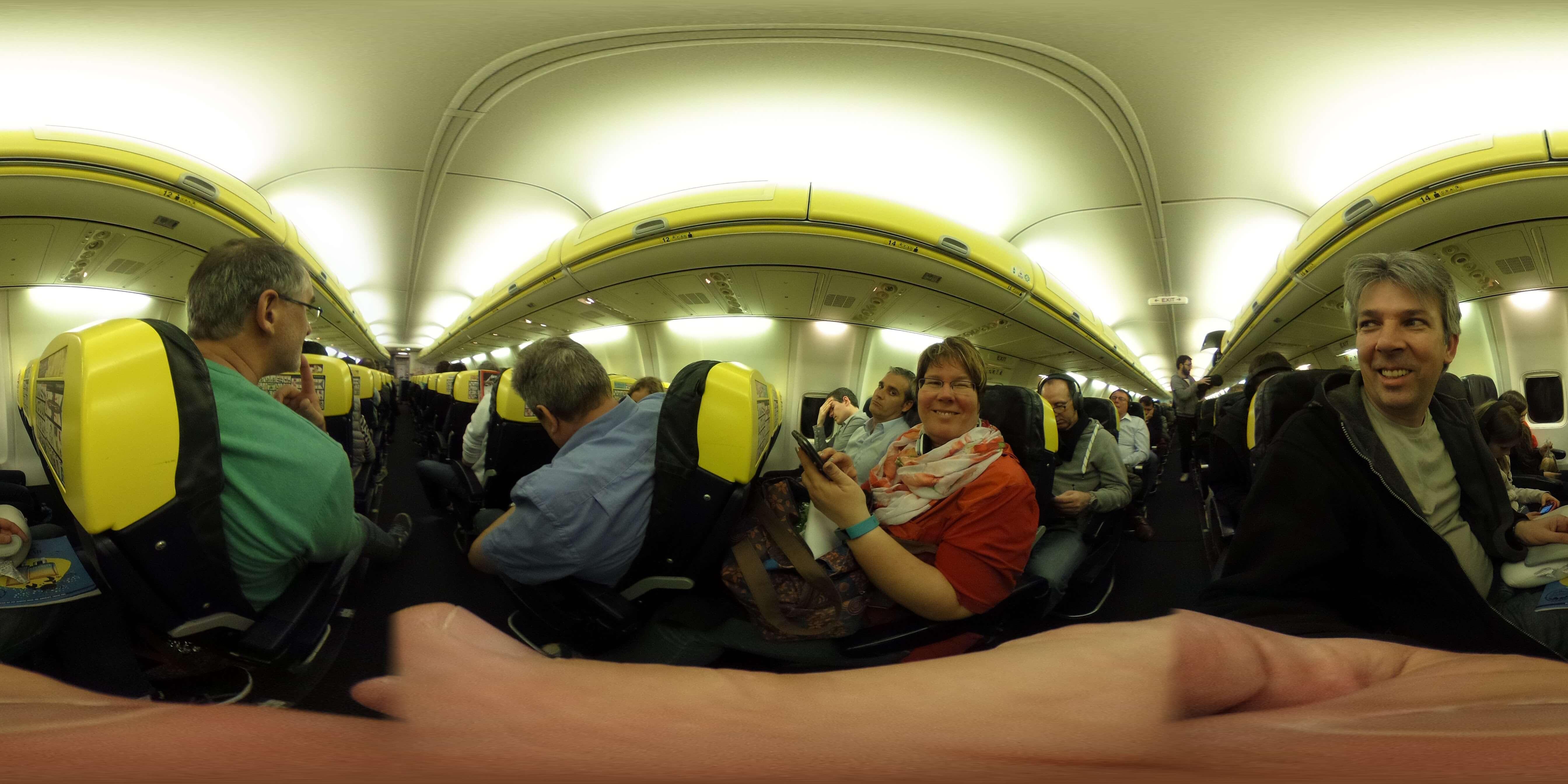 Der Flug mit Ryanair