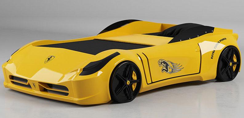 Designstudie: Sportwagen Kinderbett