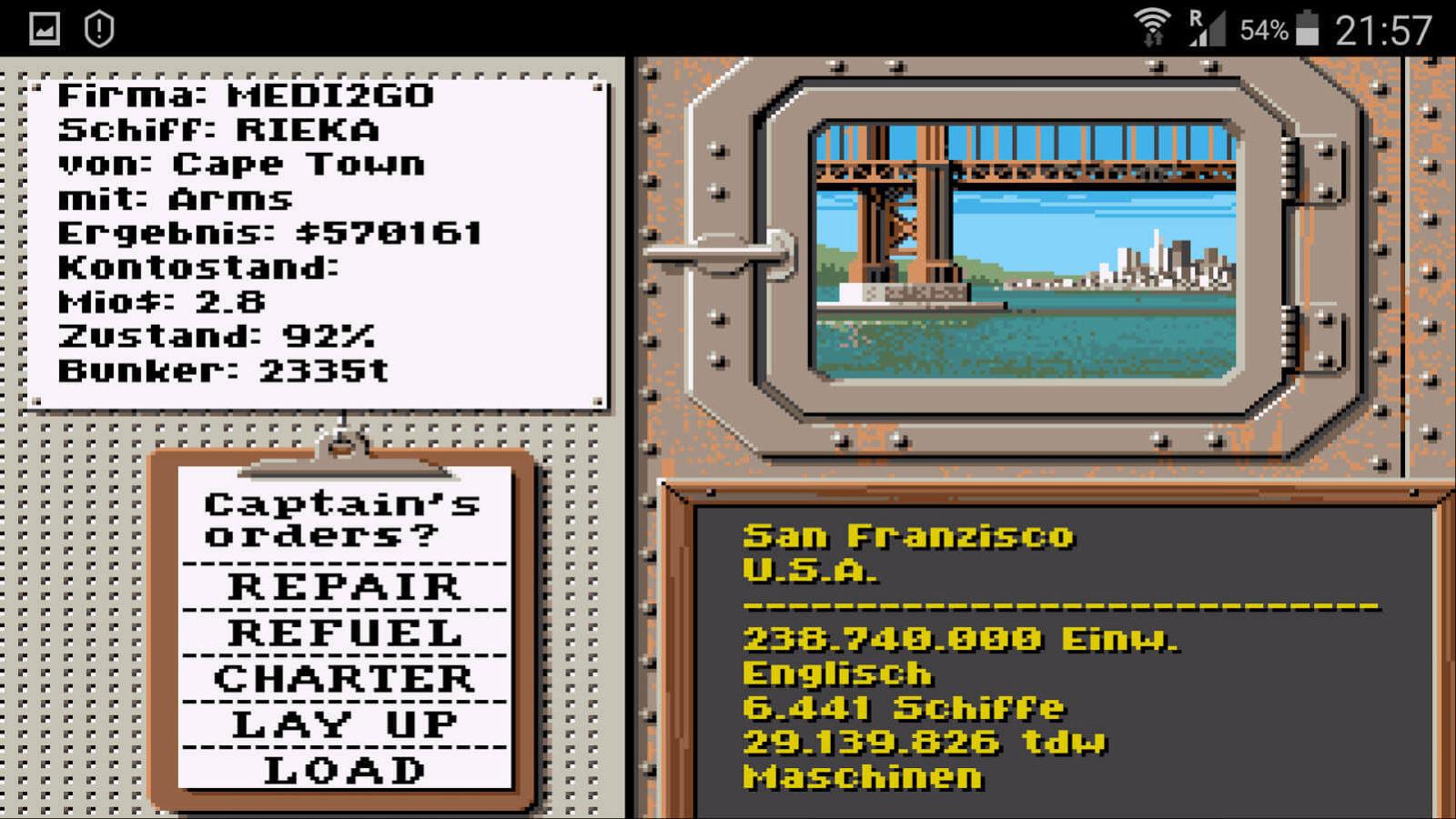 San Francisco Hafen: Jetzt nach einer guten Fracht ausschau halten!