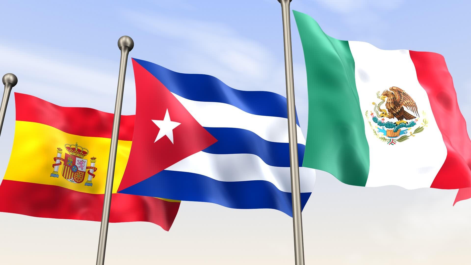 Spanien, Kuba und Mexico