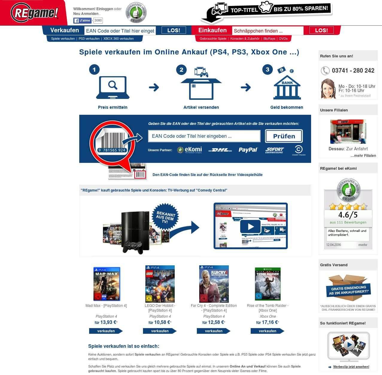 Regame Website
