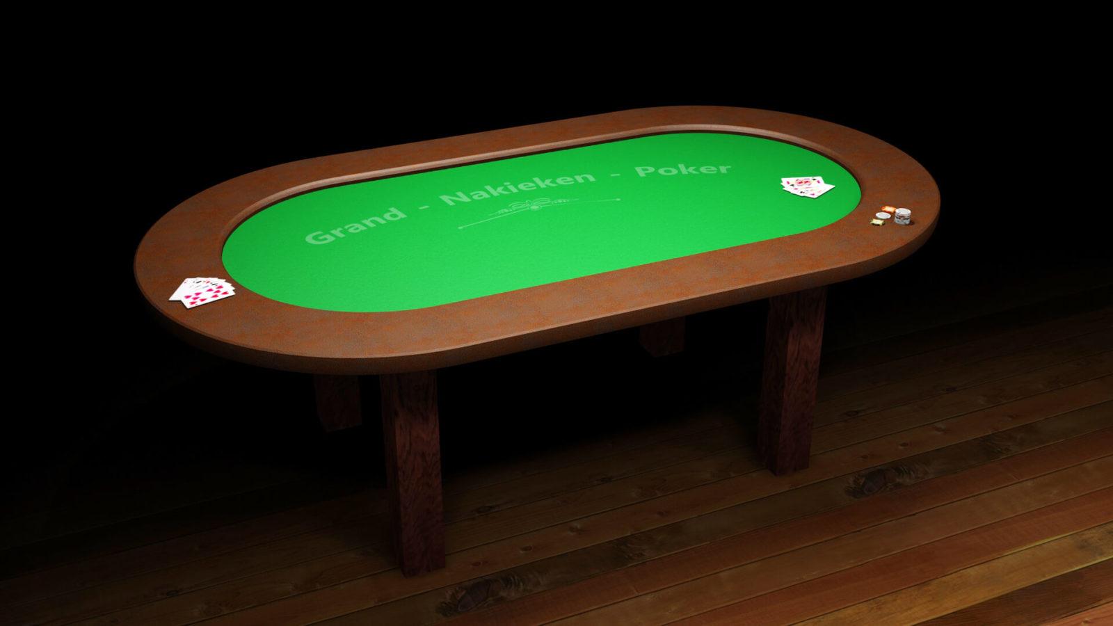 selbst gebauter Pokertisch