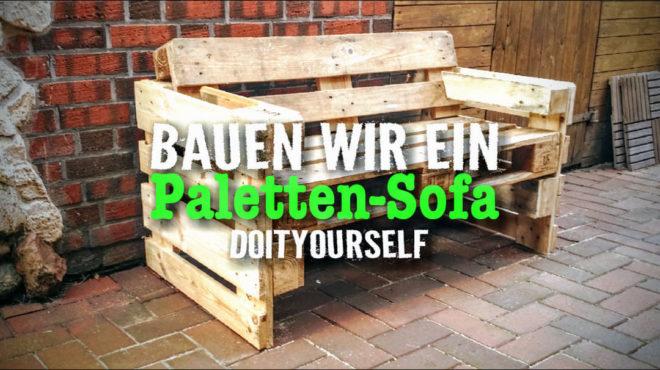 Palettensofa selbstgebaut #DIY