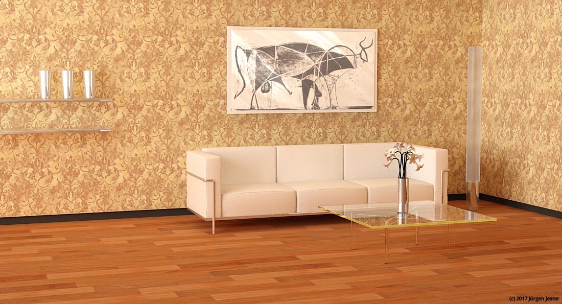 klassische tapete mit ornamenten. Black Bedroom Furniture Sets. Home Design Ideas
