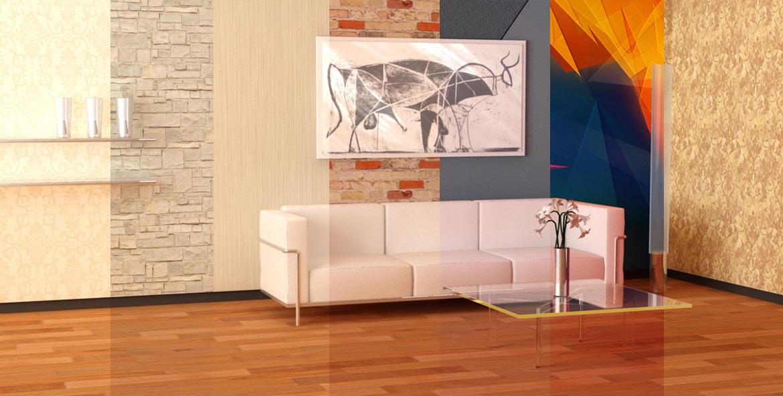 wohnzimmer kunst wandgestaltung, tapeten interaktiv ausprobieren - für jeden raum, Design ideen