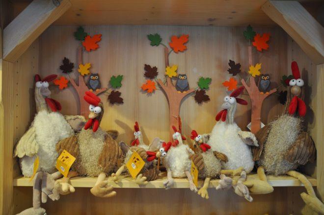 Hühnerhaus - Stoffpuppen