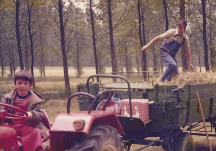 Heu machen im Pappelstück, Juni 1978