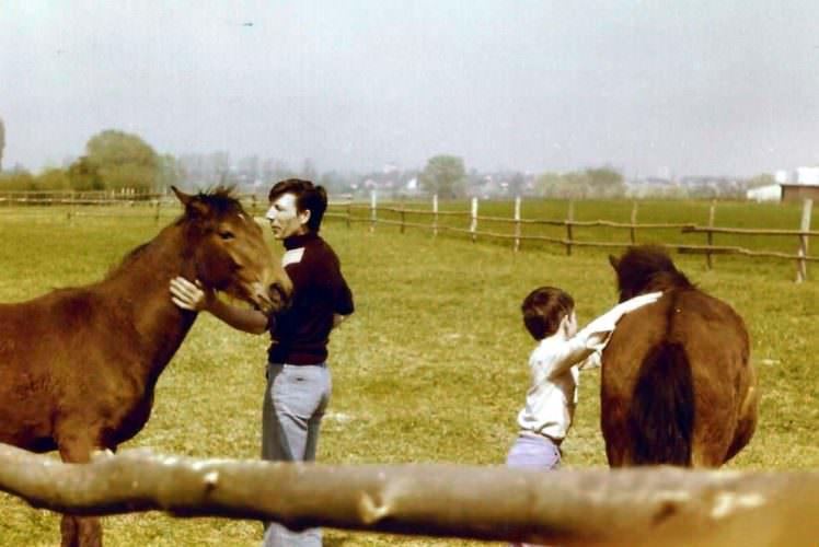 Norbert und Jürgen Jester im Juni 1978